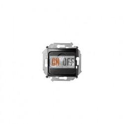 Розетка R-TV-SAT одиночная Simon 15, винтовой зажим, графит 1591466-038