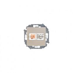 Розетка телефонная двойная RJ11, винтовой зажим, шампань 1591589-034