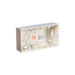 Коробка двойная для накладного монтажа, 2 поста,  алюминий 1590752-033
