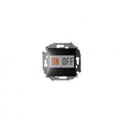Выключатель одноклавишный Simon 15, 16А 250В, винтовой зажим, графит 1591101-038