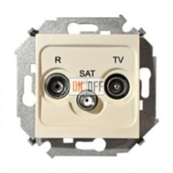 Розетка R-TV-SAT одиночная, слоновая кость 1591466-031