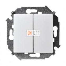 Двухклавишный выключатель проходной (из 2-х мест) Simon 15 (белый) 1591397-030
