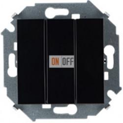 Трехклавишный выключатель Simon 15 (чёрный) 1591391-032