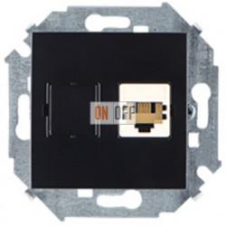 Розетка телефонная одинарная RJ11, винтовой зажим (чёрный) 1591480-032