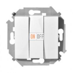 Выключатель трехклавишный Simon 15 (белый) 1591391-030