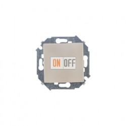 Одноклавишный проходной выключатель (с 2-х мест) Simon 15, шампань 1591201-034