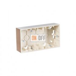 Коробка двойная для накладного монтажа, 2 поста,  шампань 1590752-034