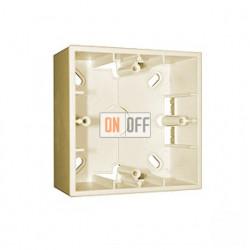 Коробка одинарная для накладного монтажа, 1 пост, слоновая кость 1590751-031