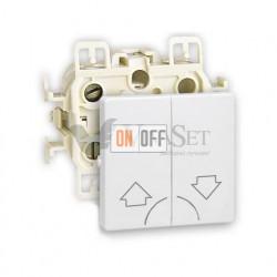 Кнопочный выключатель управления жалюзи Simon 73 Loft, белый 73396-39 - 73028-60