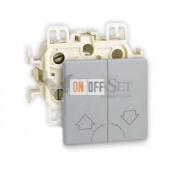 Кнопочный выключатель управления жалюзи Simon 73 Loft, алюминий 73396-39 - 73028-63