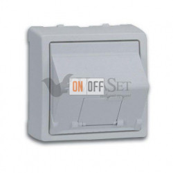 Розетка интернет одинарная 5 кат. Simon 73 Loft, алюминий 75540-39 - 73085-63