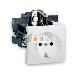 Розетка электрическая с заземлением  16 А 250 В~ Simon 73 Loft, белый 73432-39 - 73041-60