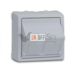 Розетка интернет двойная 5 кат. Simon 73 Loft, алюминий 75001-39 - 75001-39 - 75540-39 - 75540-39 - 73086-63