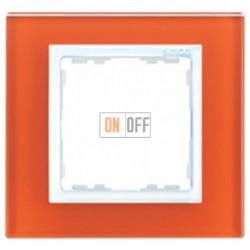Рамка Simon 82 на 1 пост (оранжевое стекло) 82617-65
