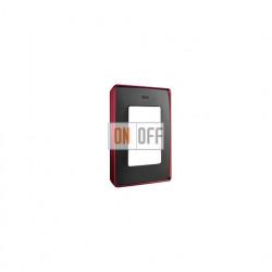Рамка Simon 82 Detail Цветной Металлизированный, 1 пост (графит с красным основанием) 8201610-252