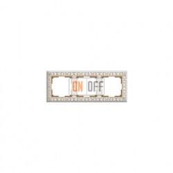 Рамка тройная Werkel Antik, белое золото a036750