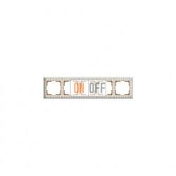 Рамка пятерная Werkel Antik, белое золото a036752