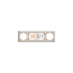 Рамка четверная Werkel Antik, белое золото a036751