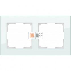 Рамка двойная Werkel Favorit, натуральное стекло a031476