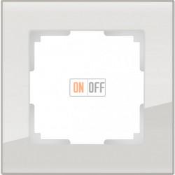 Рамка одинарная Werkel Favorit, дымчатое стекло a030785
