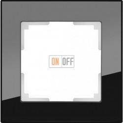 Рамка одинарная Werkel Favorit, черное стекло a031797