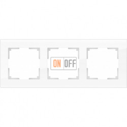 Рамка тройная Werkel Favorit, белое стекло a030821