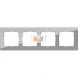 Рамка четверная Werkel Favorit, серое стекло a030778