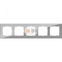 Рамка пятерная Werkel Favorit, серое стекло a030779