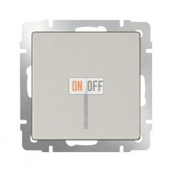 Выключатель одноклавишный проходной (из 2-х мест) с подсветкой  10 AX - 250 В, Werkel слоновая кость a030804