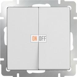 Выключатель двухклавишный проходной (из 2-х мест) 10 AX - 250 В, Werkel белый a051126