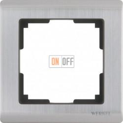 Рамка одинарная Werkel Metallic, глянцевый никель a028859