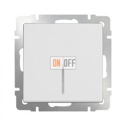 Выключатель одноклавишный проходной (из 2-х мест) с подсветкой  10 AX - 250 В, Werkel белый a051118