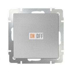 Выключатель одноклавишный проходной (из 2-х мест) 10 AX - 250 В, Werkel серебряный a029821