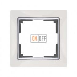 Рамка одинарная Werkel Snabb, белый/серебро a028880