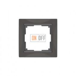 Рамка одинарная Werkel Snabb, серо-коричневый a036698
