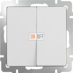 Выключатель двухклавишный проходной (из 2-х мест) 10 AX - 250 В, Werkel белый a028646