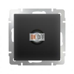 ТВ-розетка оконечная, Werkel черный матовый a029881