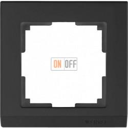 Рамка одинарная Werkel Stark, черный a029214