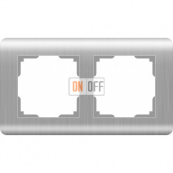 Рамка двойная Werkel Stream, серебряный a034327