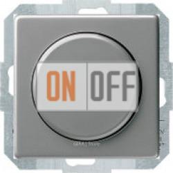 Универсальный светодиодный поворотно-нажимной, проходной светорегулятор, сталь