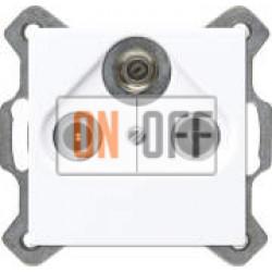 TV-FM-SAT розетка оконечная, Белый  S4100 A561PLSATWW