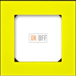 Рамка 1-ая (одинарная), цвет Желтый/Дымчатый черный, Levit, ABB