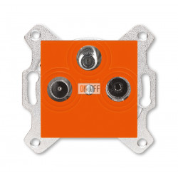 Розетка TV-R-SAT, цвет Оранжевый/Дымчатый черный, Levit, ABB