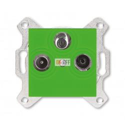 Розетка TV-R-SAT, цвет Зеленый/Дымчатый черный, Levit, ABB