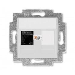 Розетка компьютерная RJ45 кат,6+заглушка, цвет Серый/Белый  ABB Levit