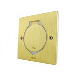 Встраиваемый лючок IP44 квадратный 1 пост (2 модуля) с монтажной коробкой, бронза