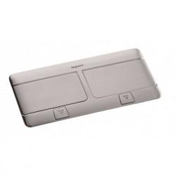 Выдвижной блок, 6 (2х3) модулей c монтажной пластиковой коробкой и установочным набором (для столов и фальш-полов), IP 40, Нержавеющая сталь