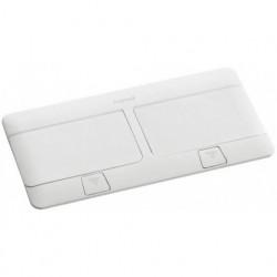 Выдвижной блок, 8 (2х4) модулей c монтажной пластиковой коробкой и установ. набором (для столов и фальш-полов), IP 40, белый