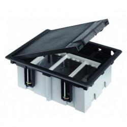 Лючок для наливного пола Simon Connect на 3 s-модуля (графит) c монтажной коробкой