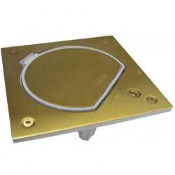 Simon Влагостойкая основа IP66 с замком на 1 модуль K45, с коробкой для фальшпола, латунь
